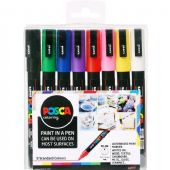 Posca - PC-3M Fine Bullet Tip - Water Based Paint Marker - 8pc Assorted Starter Pack
